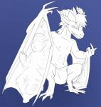 absorption animatics anthro balls bulge clothed clothing dragon flying_wyvern half-dressed human inviting looking_at_viewer male mammal monochrome muscles pecs penis scalie simple_background smile topless underwear vore wing_vore wings wyvern  Rating: Questionable Score: 3 User: Hawkbird Date: July 24, 2015