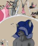 ... 2014 <3 ? anthro bed blue_pants canine colored comic couple dominion69 duo female fur grey_fur hi_res male male/female mammal nude pink_dress romantic snout table were werewolf  Rating: Questionable Score: 1 User: Dominion69 Date: April 10, 2014