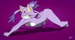 all_fours anthro blaze_the_cat breasts butt cat feline female fur mammal nipples nude one_eye_closed purple_background purple_fur slypon solo sonic_(series) yellow_eyes   Rating: Questionable  Score: 26  User: TheHuskyK9  Date: June 25, 2013