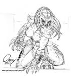 alien armor big_breasts breasts city clothed clothing female humanoid monster muscular muscular_female omny87 pencil_(disambiguation) predator_(franchise) sketch topless yautjaRating: QuestionableScore: 2User: omny87Date: April 26, 2017