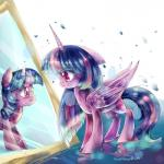 2014 abstract_background aquagalaxy crying cutie_mark equine feathered_wings feathers female friendship_is_magic fur hair hi_res horn mammal mirror multicolored_hair my_little_pony purple_feathers purple_fur red_eyes smile solo tears twilight_sparkle_(mlp) two_tone_hair unicorn winged_unicorn wings young  Rating: Safe Score: 4 User: ConsciousDonkey Date: January 16, 2016