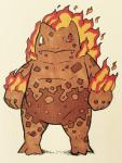 2016 3_toes 4_fingers alternate_color alternate_species anthro anthrofied belly biped brown_skin brown_spots collarbone fakémon fangs featureless_crotch fire firefightdex fist flaming_hair frown full-length_portrait hair hi_res ivysaur looking_away male mfanjul mineral_fauna musclechub muscular muscular_male nintendo overweight overweight_male pecs pen_(artwork) pokémon pokémon_(species) pokémorph portrait red_eyes scalie shadow simple_background solo spots spotted_skin toes toony traditional_media_(artwork) video_games white_backgroundRating: SafeScore: 2User: DiceLovesBeingBlownDate: March 09, 2018