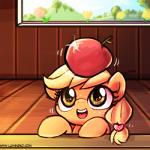 2015 apple applejack_(mlp) cub earth_pony equine female food freckles friendship_is_magic fruit hair horse low_res luminaura mammal my_little_pony pony solo young  Rating: Safe Score: 17 User: BluJaguar Date: September 21, 2015
