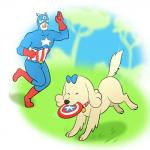 anne_kennel bow canine captain_america collar cute dog duo eyes_closed female feral feralized frisbee human lonbluewolf male mammal marvel open_mouth pups_of_liberty smile star stars_and_stripes united_states_of_america  Rating: Safe Score: 3 User: ROTHY Date: September 15, 2015