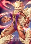 2016 alanscampos anthro arcanine breasts canine clothed clothing female fur mammal navel nintendo nipple_bulge orange_fur pokémon skimpy solo video_games  Rating: Questionable Score: 13 User: Master99 Date: February 14, 2016