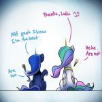 2015 anticularpony dessert dialogue duo english_text equine female feral food friendship_is_magic horn ice_cream mammal my_little_pony princess_celestia_(mlp) princess_luna_(mlp) text winged_unicorn wings  Rating: Safe Score: 7 User: Robinebra Date: October 04, 2015