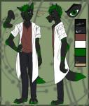 "anthro black_jeans brown_shirt canine fur_pattern giano_""raven""_blakwulf grumpy inaccurate lab_coat male mammal markings model_sheet scar scientist scowl scrawny skinny solo wolf xx-heartattack  Rating: Safe Score: 2 User: Raven_Blakwulf Date: August 13, 2014"