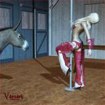 3d barn blonde_hair breasts cowgirl dancing donkey equine female feral hair human long_hair male mammal pole pole_dancing spurs topless vaesark   Rating: Questionable  Score: 2  User: lilicalover  Date: April 11, 2014