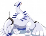 avian bdsm blush bondage bound chain female feral hindpaw legendary_pokémon looking_at_viewer looking_back lugia nintendo paws pokémon pussy pussy_juice simple_background solo sweat video_games white_background wkar  Rating: Explicit Score: 23 User: chdgs Date: September 15, 2013