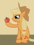 2012 animated apple applejack_(mlp) blonde_hair cowboy_hat cutie_mark earth_pony eating equine female feral friendship_is_magic frown fruit fur green_eyes hair hat horse loop mammal my_little_pony orange_fur pony simple_background sitting smile solo twodeepony  Rating: Safe Score: 3 User: Rainbow_Dash Date: June 17, 2012