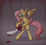 2013 blood blood_stain blue_eyes chainsaw cyan_eyes equine feathered_wings feathers female feral fluttershy_(mlp) friendship_is_magic fur hair hi_res insane looking_at_viewer mammal my_little_pony pegasus pink_hair pink_tail punkamena smile solo tools wings yellow_feathers yellow_fur  Rating: Safe Score: 0 User: Falord Date: July 23, 2013