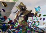 demon digital_media_(artwork) fangs feline female gem headdress igor_kieryluk magic magic_the_gathering mammal rakshasa solo  Rating: Safe Score: 7 User: Shardshatter Date: September 14, 2015
