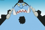 2012 anthro facial_hair fangs fish fishmen hair jinbe looking_at_viewer male marine maxime-jeanne one_piece pirate scar shark solo whale_shark   Rating: Safe  Score: 1  User: MJ1988  Date: July 29, 2013