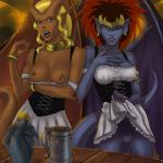 blonde_hair bracelet breasts demona desdemona disney ear_piercing female flashing gargoyle gargoyles hair horn humanoid jewelry long_hair necklace nipples one_eye_closed open_mouth piercing pussy red_hair sunsetriders7 wings wink  Rating: Explicit Score: 7 User: Ample_Bovine Date: December 29, 2013