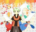 abstract_background blue_feathers brown_eyes dragon eyes_closed female feral green_eyes green_feathers hat hi_res human latias latios legendary_pokémon looking_at_viewer male mammal nintendo open_mouth pokéball pokémon pokémon_trainer red_eyes red_feathers scalie shiny_pokémon smile star tongue unknown_artist video_games white_feathers yellow_eyes yellow_feathers   Rating: Safe  Score: 2  User: DeltaFlame  Date: April 27, 2015