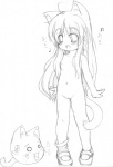 ambiguous_gender animal_humanoid black_and_white breasts cat cat_humanoid clothing duo feline female footwear fushuu humanoid legwear mammal monochrome navel nipples nude pussy shoes sketch small_breasts socks uncensored young  Rating: Explicit Score: 4 User: Kitsu~ Date: December 10, 2009