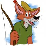 anthro arrow bleuxwolf bow brown_fur canine clothing fangs fox fur hat looking_at_viewer mammal open_mouth plain_background robin_hood robin_hood_(disney) simple_background smile teeth tongue tuft whiskers white_background   Rating: Safe  Score: 0  User: Kario-xi  Date: March 22, 2015