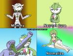 bandage breasts cleavage clothed clothing english_text female gardevoir harijizo human humanized machoke mummy nintendo pokémon punching red_eyes text undead video_games   Rating: Safe  Score: 0  User: Juni221  Date: February 26, 2014