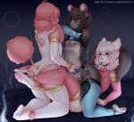 2015 <3 anal anal_beads anthro areola bell blossom_(sinfuldreams15) blue_eyes blue_nose blue_pawpads blush bow brown_fur brown_hair canine cat chinchilla claws clothed clothing cum dog elbow_gloves erection fangs feline freckles frottage fur girly gloves group group_sex hair hi_res hindpaw humanoid_penis kneeling lax legwear lips lying male male/male mammal messy nipples on_back one_eye_closed pawpads paws penis pink_eyes pink_fur pink_hair pink_nose pink_pawpads poodle pudding_(aindrias) rodent sex sex_toy short_hair sinfuldreams15 stockings teeth thick_thighs threesome uncut white_fur white_hair  Rating: Explicit Score: 28 User: Fur_in_the_dark Date: July 16, 2015