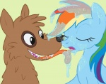 arrkhal bestiality canine dog drooling equine feral friendship_is_magic hair horse interspecies licking mammal multi-colored_hair my_little_pony orthrus pegasus pony rainbow_dash_(mlp) saliva tongue wings   Rating: Questionable  Score: 11  User: Arrkhal  Date: April 20, 2014