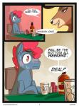 alcohol antlers beverage blush brown_eyes brown_fur cervine comic deer dialogue duo earth_pony english_text equine fan_character feral food freckles fur hair horn horse male mammal my_little_pony nophixe poker_chip pony red_hair smile sweat text  Rating: Safe Score: 8 User: Pasiphaë Date: July 29, 2015