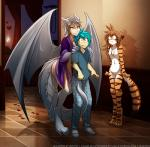2018 angry animal_humanoid anthro barefoot bed bedroom blue_hair blush bottomless breasts brown_hair candle casual_nudity chain chest_tuft claws clothed clothing convenient_censorship digitigrade door dragon_humanoid featureless_breasts featureless_crotch feline female flora_(twokinds) fur group hair hand_on_shoulder horn human humanoid keidran lady_nora larger_female male mammal membranous_wings mostly_nude multicolored_fur navel nervous nude one_leg_up open_mouth open_robe orange_fur partially_clothed scales seductive size_difference skimpy small_breasts smaller_female smaller_male smile striped_fur stripes sweat tail_coil text tiger tom_fischbach trace_legacy tuft twokinds webcomic white_fur white_hair white_scales wings yellow_eyesRating: QuestionableScore: 7User: Iago1Date: March 18, 2018