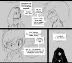 anthro asriel_dreemurr caprine chara_(undertale) clothing comic fatz_geronimo_(artist) fur goat hair horn human knife long_ears looking_at_viewer mammal monster protagonist_(undertale) undertale video_games wounded  Rating: Safe Score: 2 User: MistaMarluxiaXIII Date: October 08, 2015