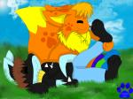 brown_hair eevee fur grass hair hindpaw lucario male marquis2007 marquis_the_evee nintendo orange_fur paws pokémon sky sleeping sniffing socks video_games yellow_fur   Rating: Safe  Score: 0  User: David_Paw_2013  Date: March 13, 2014