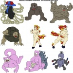 2010 2_toes 4_toes anthro barefoot big_breasts bite black_eyes breasts brown_eyes butt claws equine eyelashes fangs female fire geodude golem graveler group hair half-closed_eyes hooves horn horse huge_breasts ignatius_husky looking_at_viewer magnemite magnet mammal nintendo nipples nude open_mouth plain_background pokémon ponyta purple_eyes pussy rapidash red_eyes running sharp_claws shell sitting slowbro slowpoke smile standing teeth tentacles tentacruel toe_claws toes tongue video_games white_background white_sclera   Rating: Explicit  Score: 4  User: N7  Date: February 14, 2015