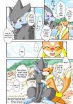 blue_eyes blush comic fangs female floatzel hug kemono luxray male nintendo pokémon translated unknown_artist video_games yellow_eyes   Rating: Safe  Score: 1  User: KemonoLover96  Date: March 27, 2015