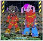 2005 bodysuit clothing duo female flat_colors glaring laiski lex_cypher looking_at_viewer male pauly_(laiski) science_fiction skinsuit slavid spacecraft standing tongue  Rating: Safe Score: -2 User: Circeus Date: November 12, 2014""