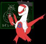 chalkboard dragon female hat latias legendary_pokémon nintendo pokémon red_feathers teacher video_games whatsapokemon yellow_eyes yellow_feathers   Rating: Safe  Score: 2  User: DeltaFlame  Date: March 15, 2015