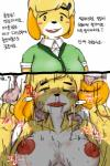 animal_crossing anthro blood_from_nose blush breasts clothing condom cum dialogue digital_media_(artwork) female filled_condom forced fur hakiahki hi_res isabelle_(animal_crossing) korean_text male male/female nintendo open_mouth orgasm penis rape rough_sex sex sweat tears teeth text translated video_gamesRating: ExplicitScore: 1User: bitchq3Date: December 10, 2018