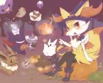 ambiguous_gender balloon boots bow braixen brown_eyes brown_fur candy canine cat cute drifloon eevee espurr eyelashes eyes_closed fangs feline fire flying forest fox fur gengar ghost grey_fur group halloween hat high_heels holidays jack_o'_lantern lampent looking_at_viewer mammal mummy night nintendo open_mouth orange_eyes orange_fur outside pikachu pokémon pumpkaboo pumpkin pyonko shiny_pokémon sitting smile spirit stick teeth tree tuft undead vampire video_games wand whimsicott white_fur witch_hat yellow_fur   Rating: Safe  Score: 13  User: DeltaFlame  Date: April 07, 2015
