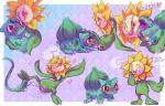 2015 <3 blush bulbasaur cum dialogue duo english_text female female/female feral flora_fauna flower nintendo nude open_mouth oral plant pmdeos pokémon pokémon_mystery_dungeon pussy red_eyes sex shy simple_background sketch_page smile sunflora sweat text tongue verdilacs video_games vine_whip  Rating: Explicit Score: 10 User: veavee Date: September 20, 2015
