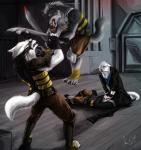absurd_res akira amand4 armor armored battle blood book canine combat comic dhomos duell fight fights hi_res kayla lupain lupains mammal novel plantigrade plantigrade_feet shane sword weapon wolf   Rating: Safe  Score: 5  User: Shane_  Date: May 04, 2015