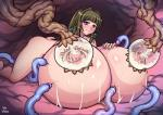 all_fours big_breasts black_hair breast_expansion breasts butt digital_media_(artwork) erect_nipples female hair huge_breasts human hyper hyper_breasts inju_otoko inyouchuu lactating mammal milk nipples not_furry nude purple_eyes smile solo stinger tentacle_maw tentacle_monster tentacles  Rating: Explicit Score: 4 User: Pasiphaë Date: August 17, 2015