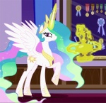 animated cutie_mark equine female feral friendship_is_magic horn looking_at_viewer mammal my_little_pony princess_celestia_(mlp) trophy winged_unicorn wings  Rating: Safe Score: 14 User: masterwave Date: January 24, 2013