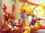 ambiguous_gender anthro aonik black_nose blue_eyes canine claws digimon fox fur group guilmon mammal open_mouth red_body renamon scalie teeth terriermon white_fur yellow_eyes yellow_fur  Rating: Safe Score: 13 User: 2ch.so Date: September 08, 2012