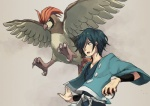 ambiguous_gender avian beak bird claws duo feathered_wings feathers flying human male mammal nilampwns nintendo pidgeot pokéball pokémon pokémon_trainer simple_background spread_wings video_games wings  Rating: Safe Score: 7 User: slyroon Date: December 21, 2014