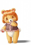 anthro bear crying edmol female mammal simple_background solo tears teddy_bear transformation white_background  Rating: Safe Score: 5 User: Flerg Date: June 01, 2012
