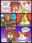 braixen canine comic delphox digital_media_(artwork) female fox group male mammal nintendo pokémon portuguese red_eyes teardrop text trainer translated unamused video_games wrinkles   Rating: Safe  Score: 1  User: takuto_shindou  Date: March 20, 2015