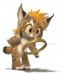 2013 ambiguous_gender anthro cute feline hair lynx magnifying_glass mammal nude orange_hair silverfox5213 solo watermark   Rating: Safe  Score: 8  User: TonyLemur  Date: January 28, 2013