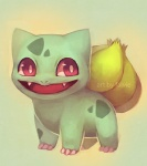 2012 ambiguous_gender bulbasaur digital_media_(artwork) falvie feral green_body looking_away nintendo pokémon red_eyes solo video_games