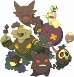 ambiguous_gender banette black_skin blue_eyes drifblim drifloon dusknoir duskull feral froslass frown gastly gengar ghost glowing glowing_eyes haunter kokemomo_sayakusa misdreavus nintendo one_eye_closed open_mouth plain_background pointy_ears pokémon purple_skin red_eyes shuppet skull smile spirit teeth video_games white_background white_eyes   Rating: Safe  Score: 3  User: Blackjesus  Date: June 01, 2012