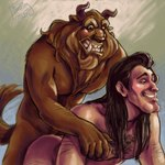 all_fours anal anal_penetration anthro beast_(disney) beauty_and_the_beast butt chest_grab clenched_teeth doggystyle duo fiendling from_behind gaston handjob human human_on_anthro interspecies male male/male mammal monster nude penetration raised_tail reach_around sex teeth   Rating: Explicit  Score: 6  User: msc  Date: March 23, 2007