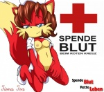 + anthro blue_eyes bottomless breasts brown_hair canine clothed clothing donate female fiona_fox fox foxxes fur german german_text hair half-dressed kneeling mammal nipples nurse propaganda pussy red_fur solo sonic_(series) text  Rating: Explicit Score: 16 User: GermanParamedic Date: October 27, 2013