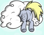 2016 blonde_hair cloud cutie_mark derpy_hooves_(mlp) digital_media_(artwork) equine female feral friendship_is_magic fur grey_fur hair horse mammal my_little_pony pegasus pokefound pony simple_background solo wings  Rating: Safe Score: 2 User: Pokefound Date: April 26, 2016