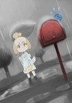 animal_crossing anthro canine dog female isabelle_(animal_crossing) mailbox mammal nintendo raining samidare solo video_games  Rating: Safe Score: 8 User: Nuji Date: September 25, 2015