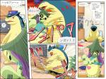 ambiguous_gender attack black_sclera cacturne cactus comic damage fight flora_fauna harley_(cosplay) hat japanese_text mammal nintendo plant pokemoa pokémon pokémon_(species) police pushing text translated typhlosion video_games yellow_eyes